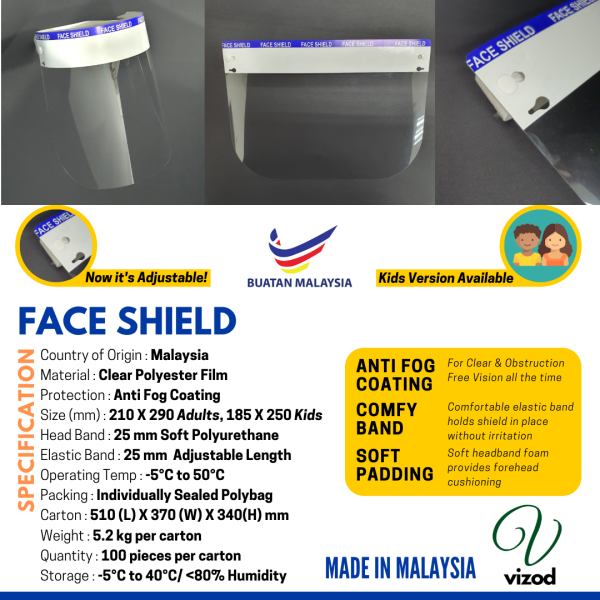 KIDS Face Shield, Anti Fog Healthcare Face Shield, READY STOCK, PPE,Safety Wear, Face Protection, Eye Protection