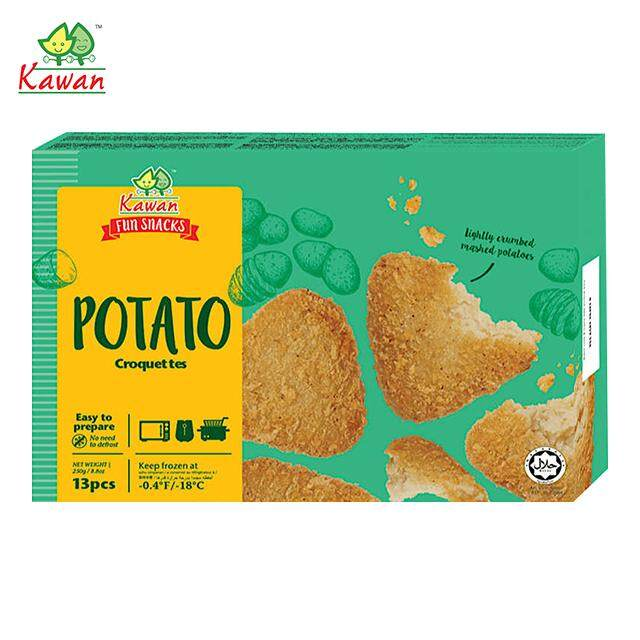 (KL & Selangor Delivery Only) Jocom Kawan Fun Snacks Croquettes Potato Original (13s) 250g