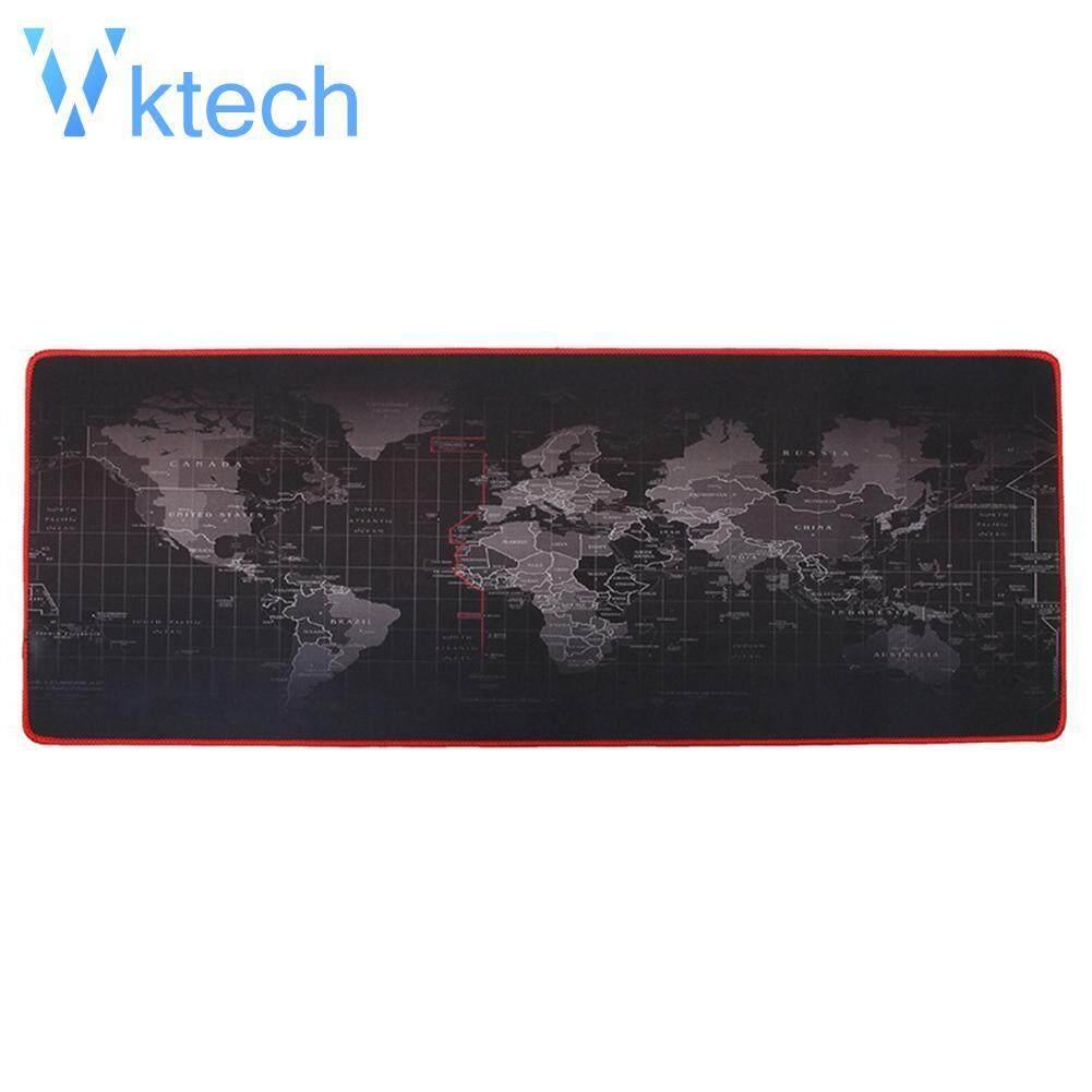 [Vktech] World Map Extra Large Mouse Pad Mat Natural Rubber Desktop Gaming Mousepad Malaysia