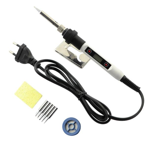White Electric Soldering Iron 80W LCD Digital Display Temperature Adjustable Electric Soldering Iron 220V/110V Welding Repair Tool Kit