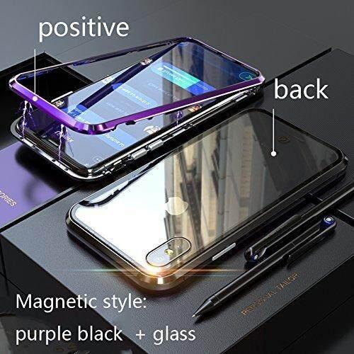 Di Generasi Kedua [Adsorpsi Magnetik Technology] untuk iPhone 7 Puls/8 PLUS Case, prismatic Memotong Tepi [Logam Bingkai]