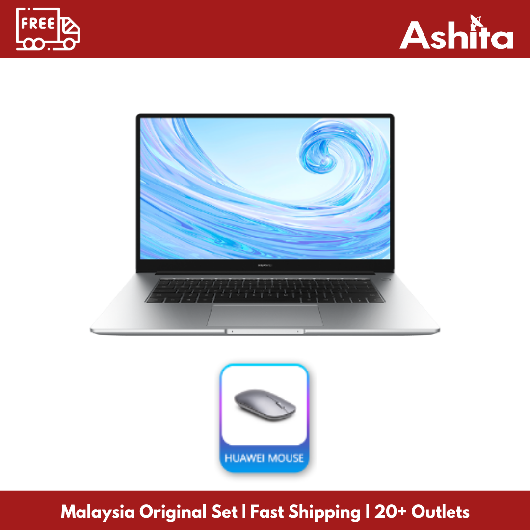 [READY STOCK!] Huawei Matebook D15 (8GB RAM / 256GB NVMe SSD / 1TB HDD) | Best Budget Laptop | Original Malaysia Set + 1 Year Warranty By Huawei Malaysia Malaysia