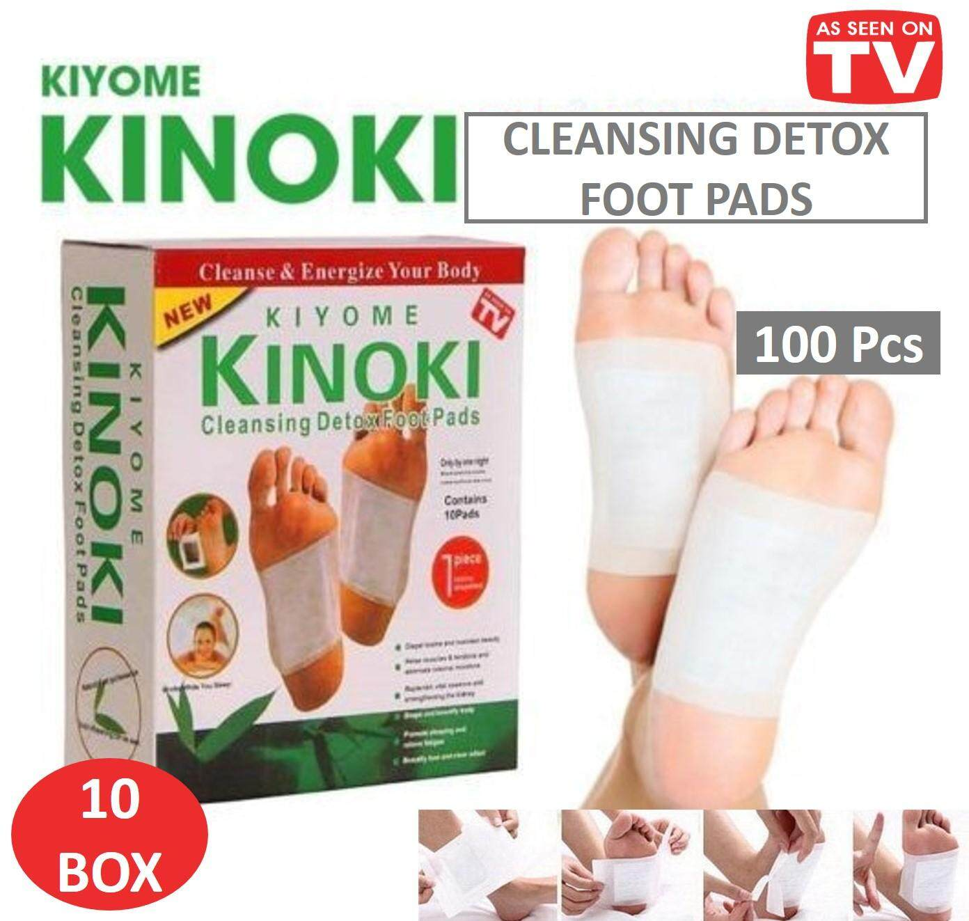 Labelle [10 Box / 100pcs] Kinoki Detox Foot Patches Cleanse And Energize Body By La Belle..
