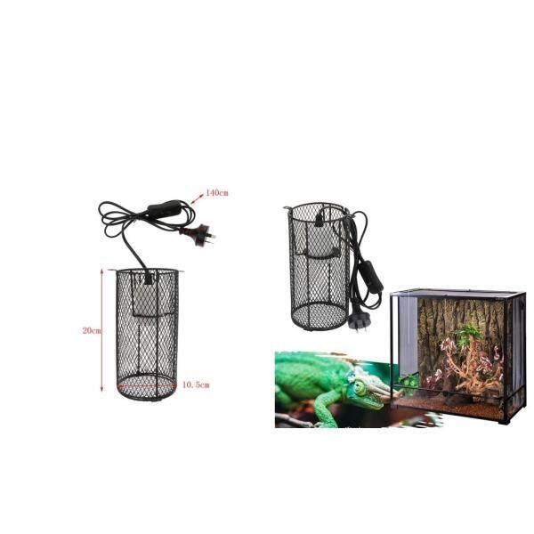 Perfk 2 Pcs Reptile Anti-scald Heating Lamp Shade Light Holder Bulb E27 AU Plug