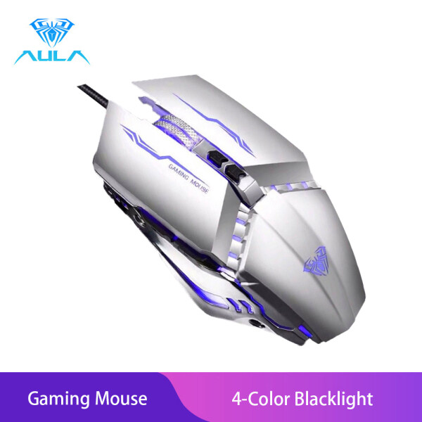AULA S30 Gaming Mouse 7Button Programmable Metal Mouse for Gamer PC Laptop