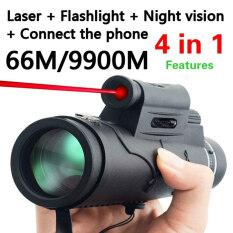Ống kính viễn vọng cầm tay, không thấm nước, nhìn được vào ban đêm, góc mắt rộng đường kính 50x60cm – INTL