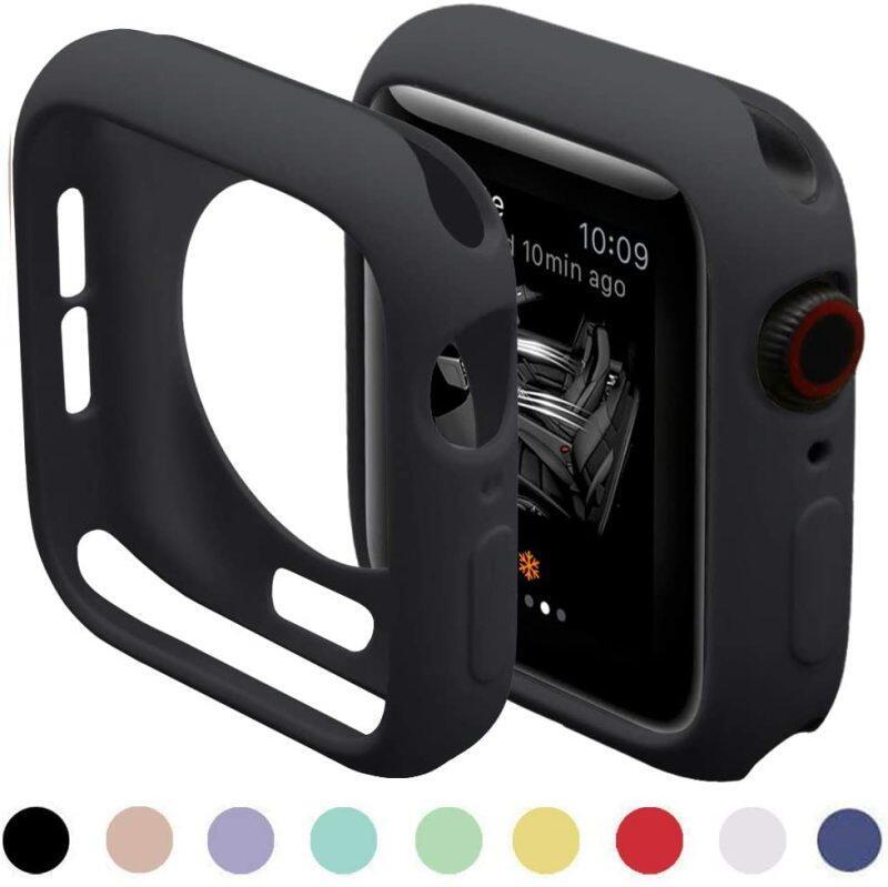 Vỏ silicon mềm cho Apple Watch 6 SE 5 4 3 2 1 Mặt số 42MM 38MM Vỏ bảo vệ cho I Watch 4 5 6 3 2 Bộ đệm 40MM 44MM, Phụ kiện đồng hồ mới