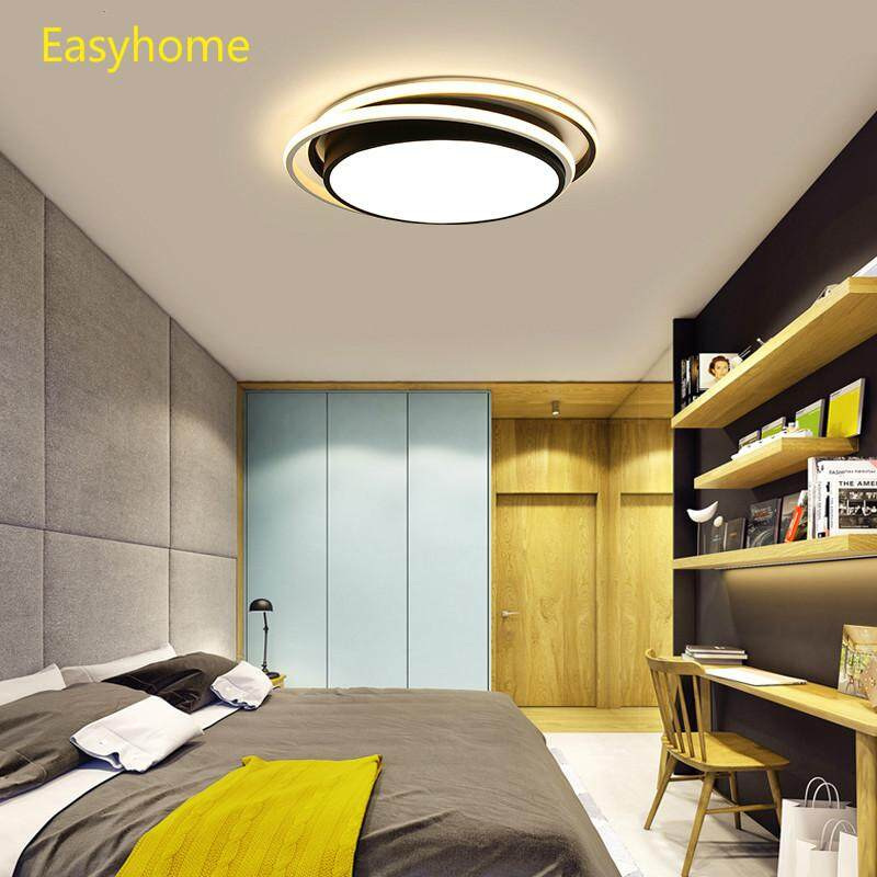 New Ceiling Lamp LED Ceiling Light for foyer Living room Bedroom Kitchen Black and White Ceiling Lamps AC110v-220v (D48*H6cm)