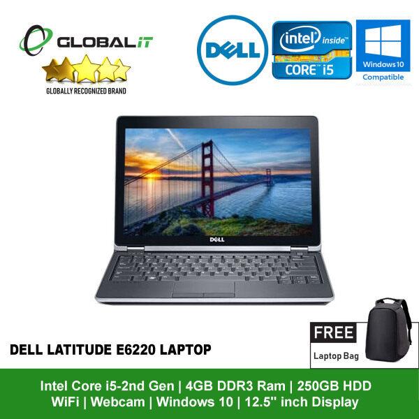 (Refurbished Notebook) Dell Latitude E6220 Laptop / 12.5 inch LCD / Intel Core i5-2nd Gen / 4GB DDR3 Ram / 250GB HDD / WiFi / Windows 10 / Webcam Malaysia