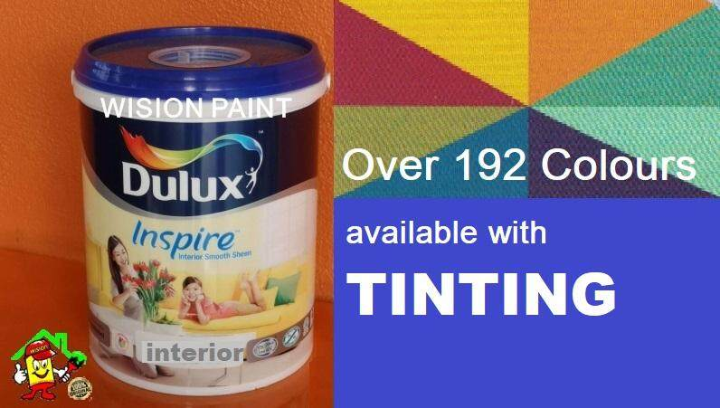 INSPIRE INTERIOR 5L - 54RR 09/276 Scarlets Velvet • Dulux • Interior Smooth Sheen • Washable Emulsion • Wall • Ceiling