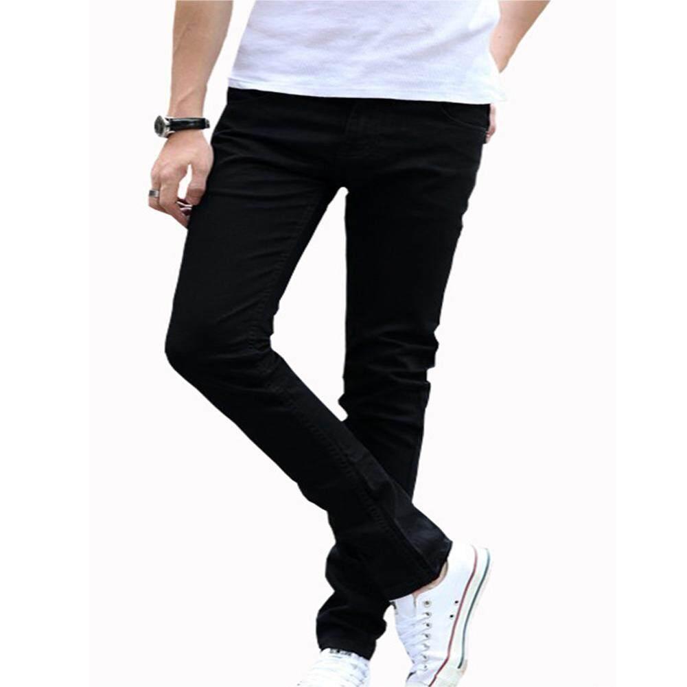 89bc8e7946f EN Men Denim Pants Fashion Break Hole Jeans Frayed Pencil Pants for Men