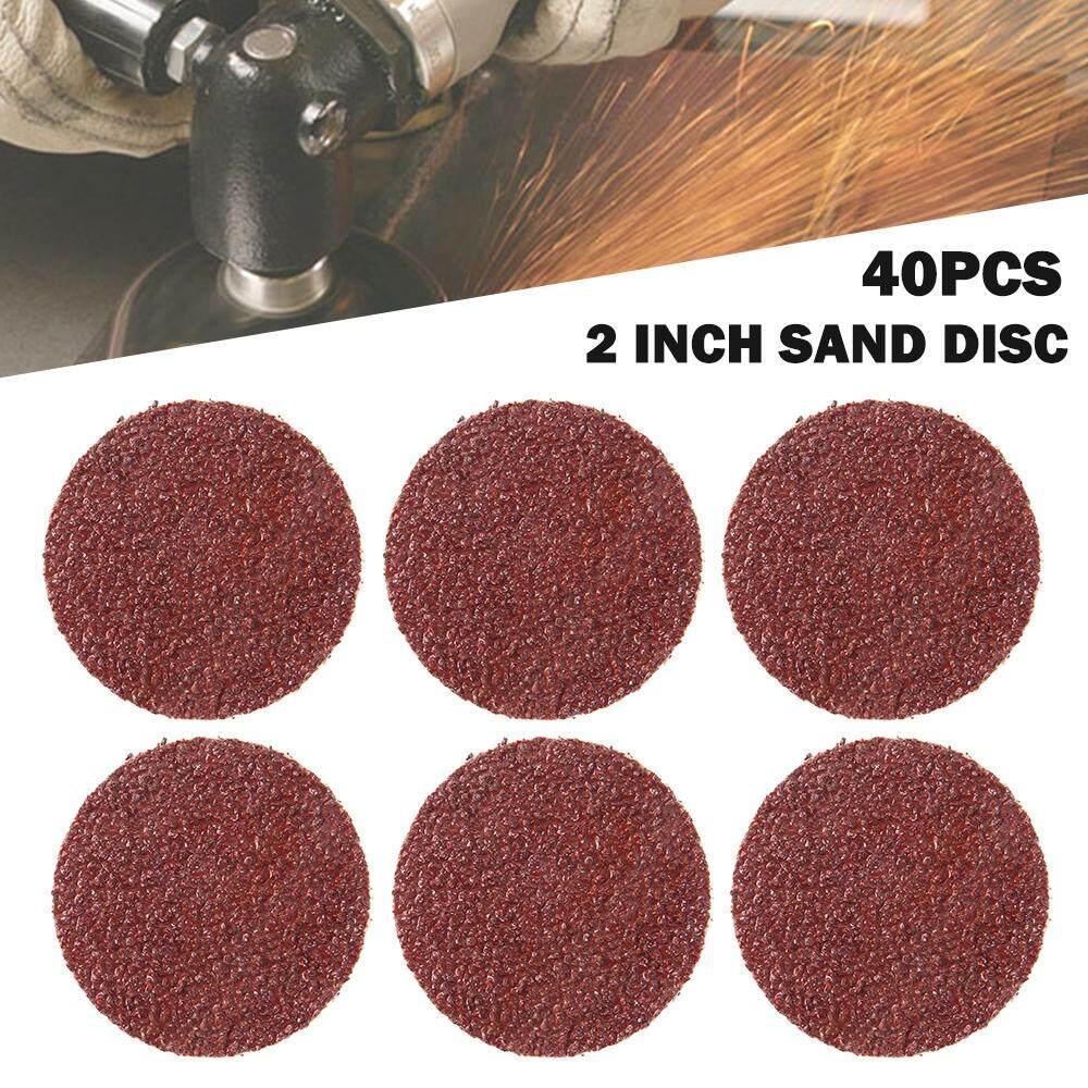 Abrasive Roll Lock 40pcs 2 50mm 40/80/120/240 Grit Type R Roloc Sanding Discs