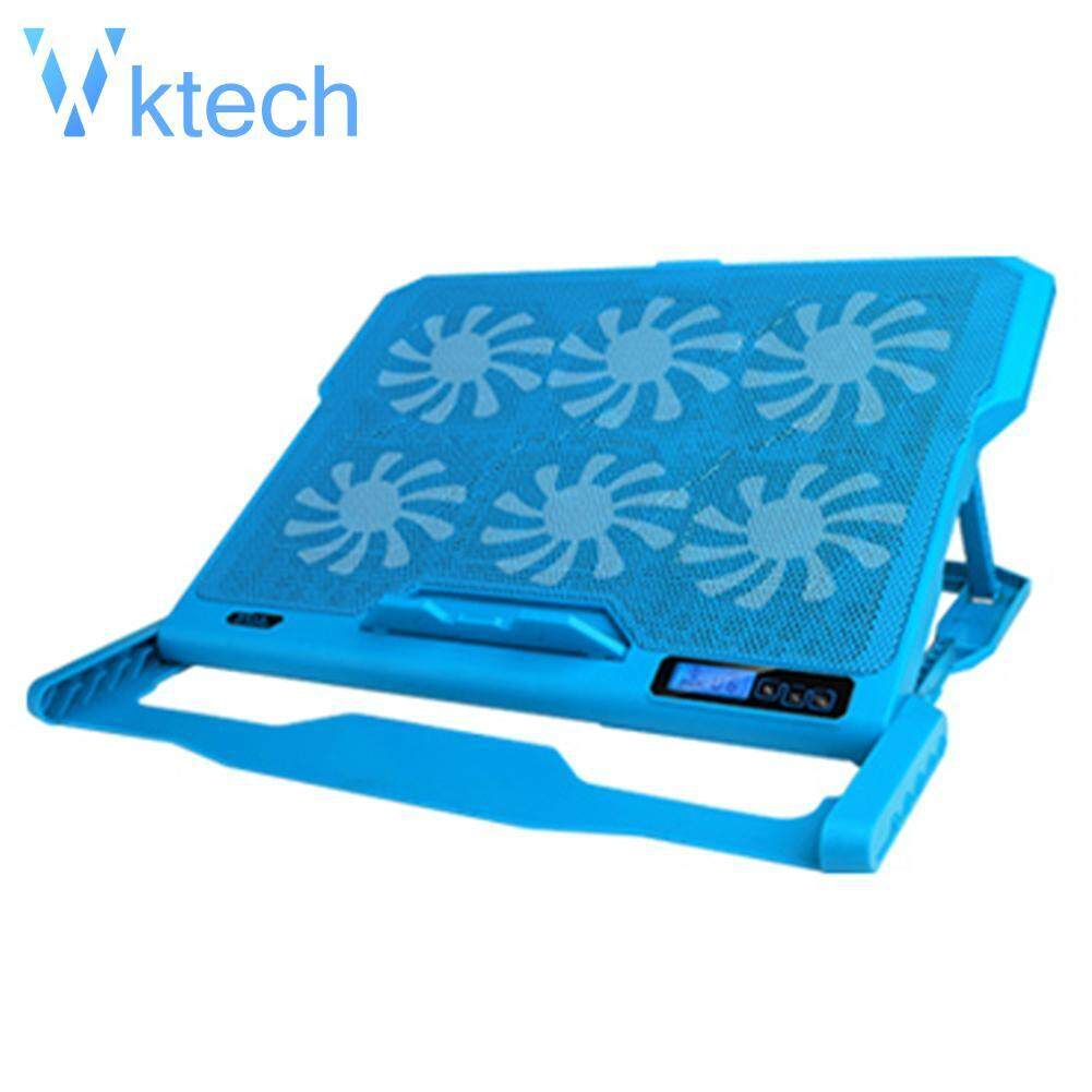 [Vktech] ICE COOREL K6 2 USB Laptop Cooler 6 Cooling Fan Notebook Holder Pad Stand Malaysia