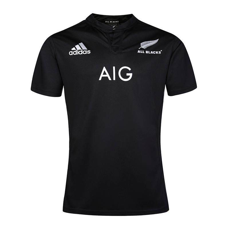 1fd088d32ff New Zealand All Blacks Rugby Home Jersey 2015 Short Sleeve Black for Men  Size:S