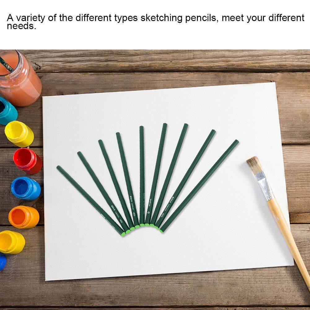 (Emas Qianmei) 12 Pcs Sketsa Pensil Yang Mudah Dihapus Pensil Arang Seni Menggambar Menyediakan Alat Set