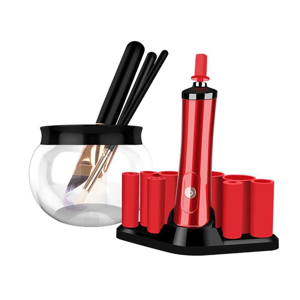 Nyaman Listrik Kuas Makeup Mencuci Cleaner Sikat Pembersihan Alat (Merah)