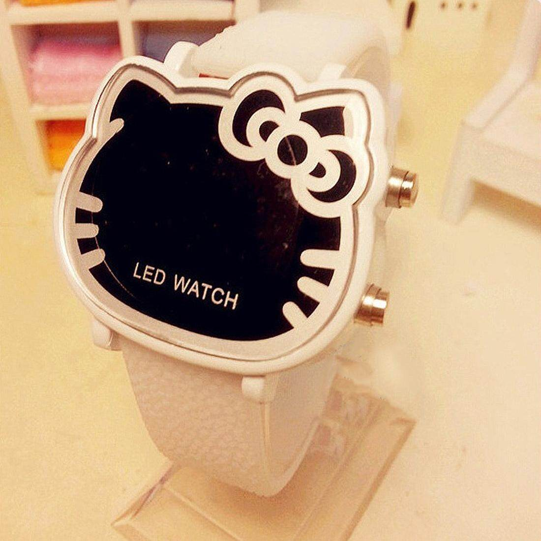 Korean Waterproof Hello Kitty ChildrenS LED Digital Watch Cat Pink Cute Watch Malaysia