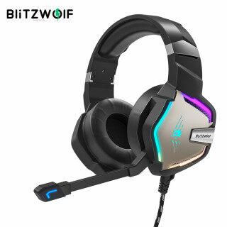 Tai Nghe Chơi Game BlitzWolf BW-GH1 Pro 7.1 5.1, Tai Nghe Chơi Game Âm Thanh Vòm Ảo Có Dây Đèn LED RGB Cho PS4 PS3 Cho XBOX thumbnail
