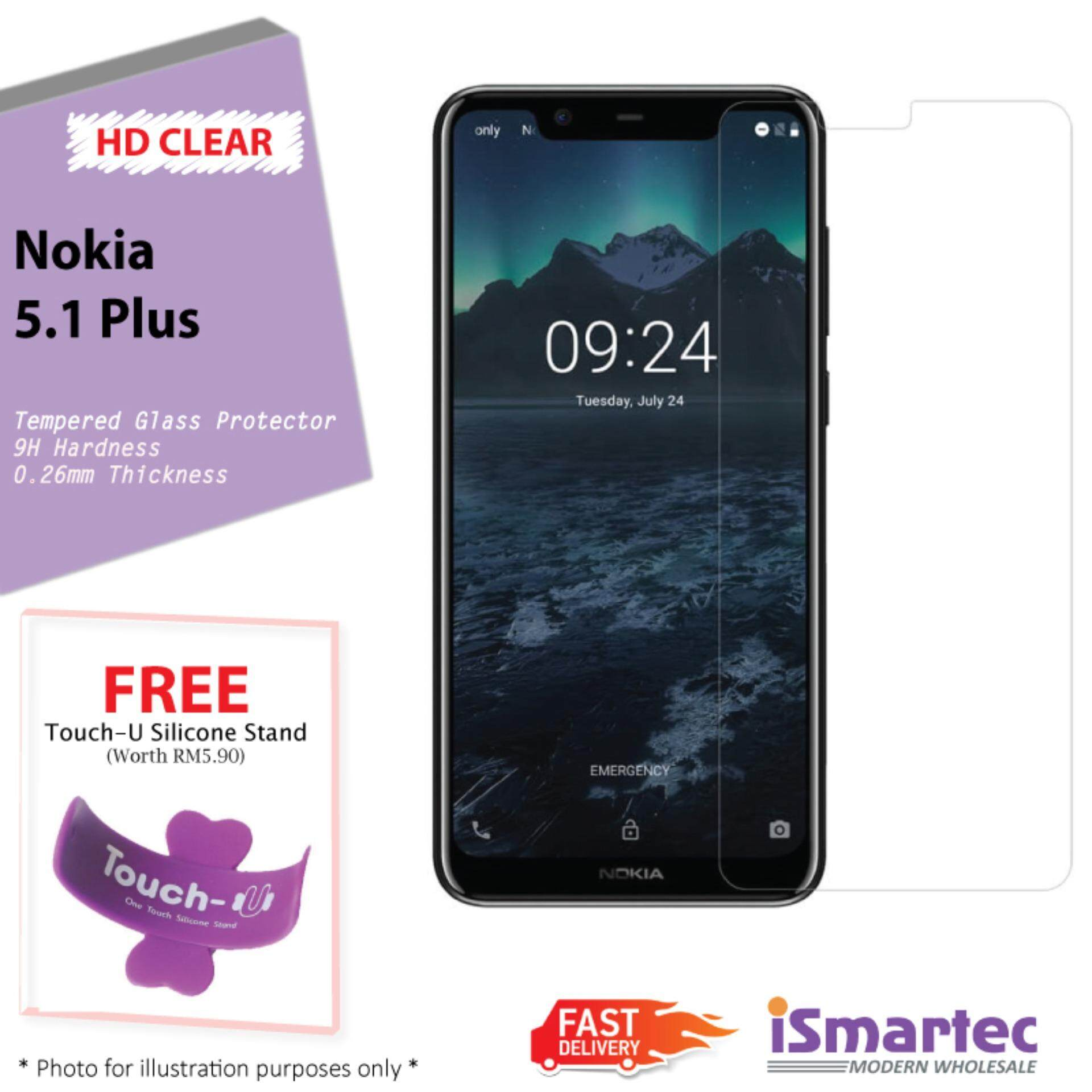 Clear Tempered Glass For Nokia 51 Plus X5 FREE Touch U