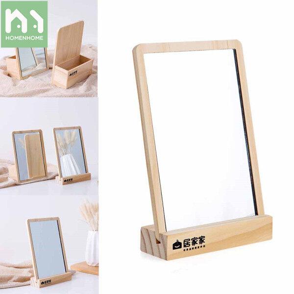 Gương trang điểm để bàn homenhome bằng gỗ thiết kế nhỏ gọn tiện lợi dành cho sinh viên ký túc xá - INTL