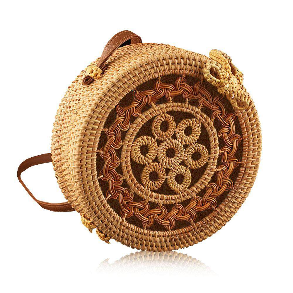 Supply 2019 Hot Sale Circle Handwoven Bali Round Retro Rattan Straw Beach Bag Crossbody Simple Fashion Bag 2019 Latest Style Online Sale 50% Top-handle Bags Women's Bags
