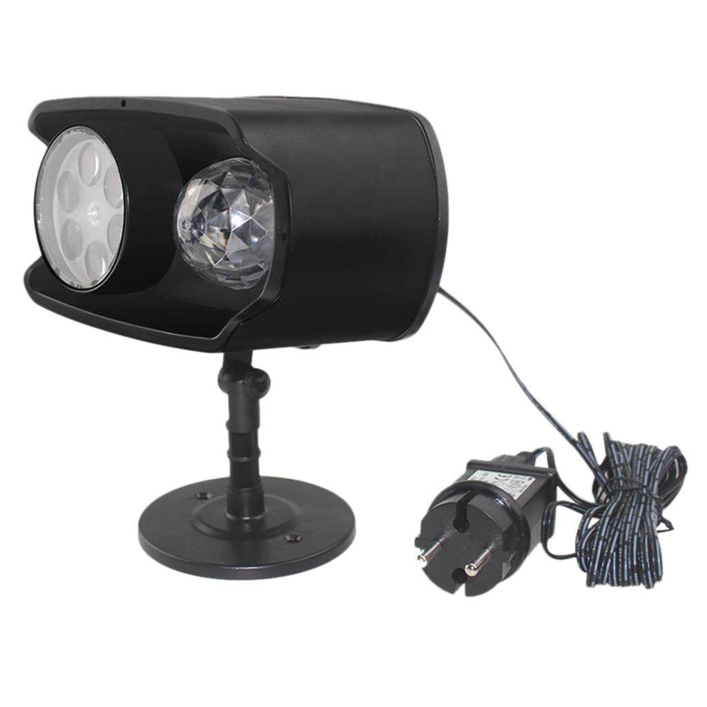 Perfk Dural Head Projector Lamp with Remote Control for Home Christmas Party