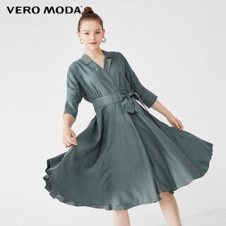 Vero Moda Đầm Cổ Bẻ Xẻ Tà Phong Cách Ins Cho Nữ, Miễn Phí Vận Chuyển 31936Z514 thumbnail
