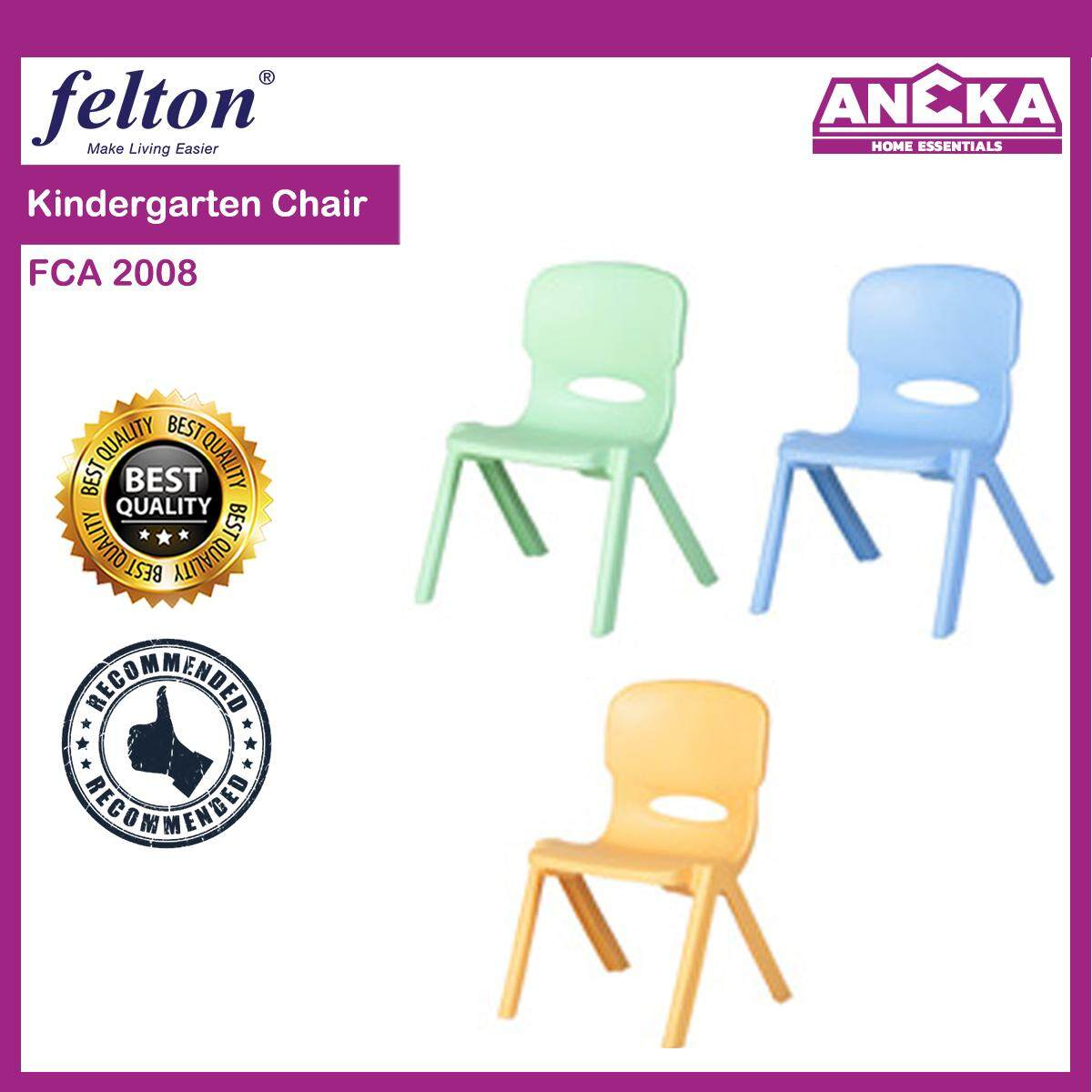 Felton Blue Kids Chair / Kids Stool / Plastic Kid Chair / Kindergarten Chair By Aneka Home Essentials.