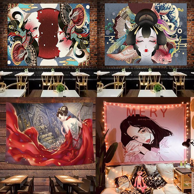 Anime Tapestry Ins Trang Trí Tường Treo Nền Tường Vải Nghệ Thuật In Vải Trang Chủ Phòng Khách Trang Trí Phòng Ngủ