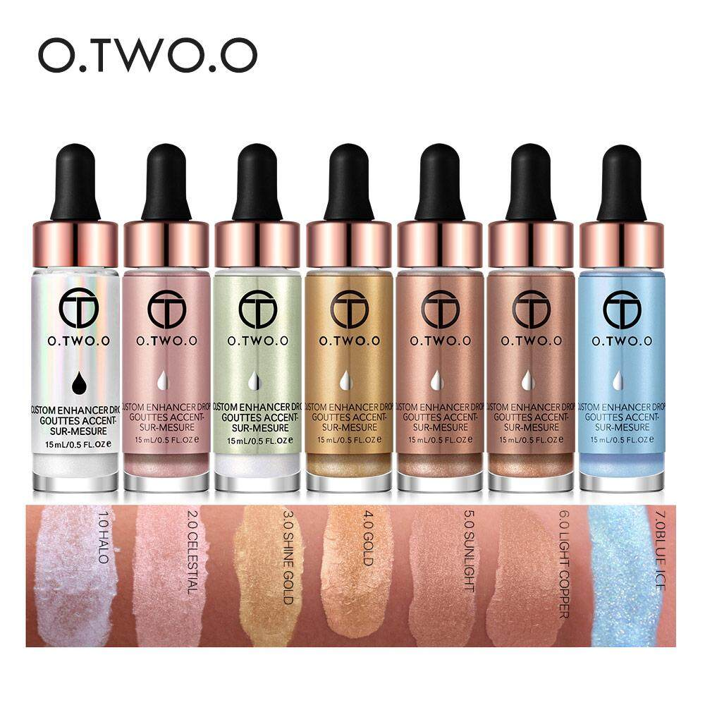O.two.o Liquid Highlighter Make Up Highlighter Cream Concealer Shimmer Face Glow Ultra-Concentrated Illuminating Bronzing Drops By Cutiee Shop09.