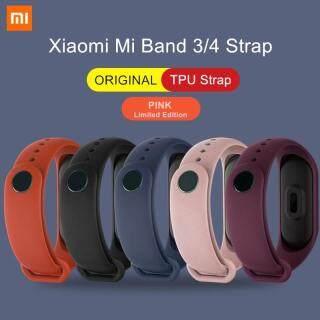 Xiaomi Mi Band 3 4 Dây Đeo Cổ Tay Chính Hãng Vòng Đeo Tay Silicon TPU Nhiều Màu Phiên Bản Giới Hạn Màu Hồng Dành Cho Mi Band 3 4 NFC Dây Đeo Cổ Tay Thông Minh thumbnail