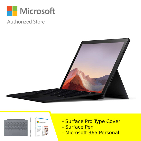 [BUNDLE] Microsoft Surface Pro 7 - Black (i5/8GB/256GB) + Type Cover + Pen + Microsoft 365 Personal Malaysia