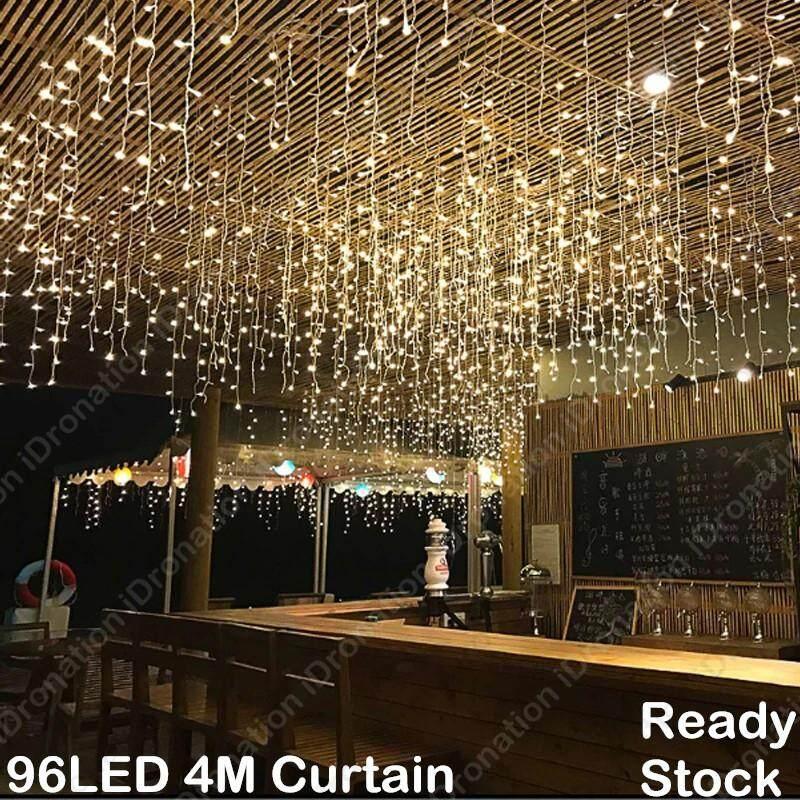 96LED 4M LED String Fairy Light Lights Christmas Party Wedding Festival  Decoration Lamp Garland Curtain Backdrop 96 LED