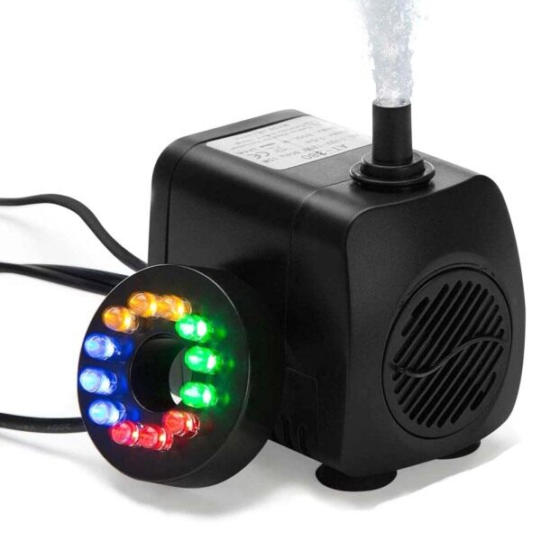 12 Đèn LED 15W Bể Cá Đài Phun Nước Bơm Bể Cá Chìm