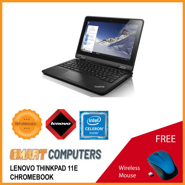 Lenovo ThinkPad 11e Laptop / 11.6 inch Display / Intel Celeron / 4GB DDR3 RAM / 16GB SSD / WiFi / Webcam / Windows 10 Malaysia