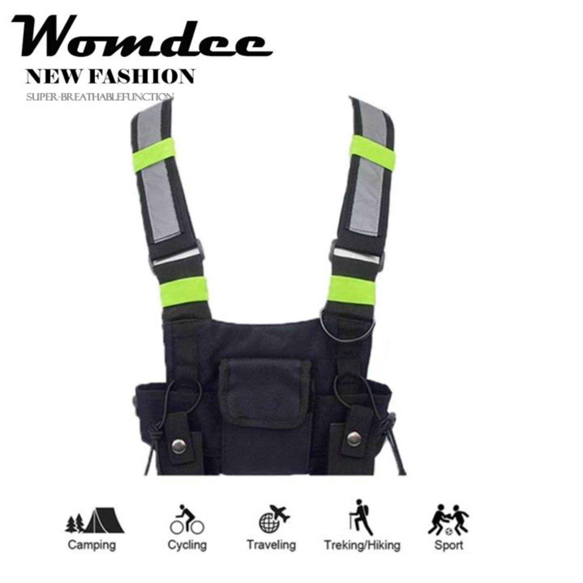 Bicycle Accessories 1 Pcs Unisex Outdoor Cycling Safety Vest Bike Ribbon Bicycle Light Reflecing Elastic Harness For Night Riding Running Jogging