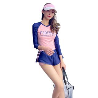 2 Cái bộ Phụ Nữ Chia Áo Tắm, Bộ Đồ Bơi Hai Mảnh Phong Cách Thể Thao Kín Đáo In Chữ thumbnail