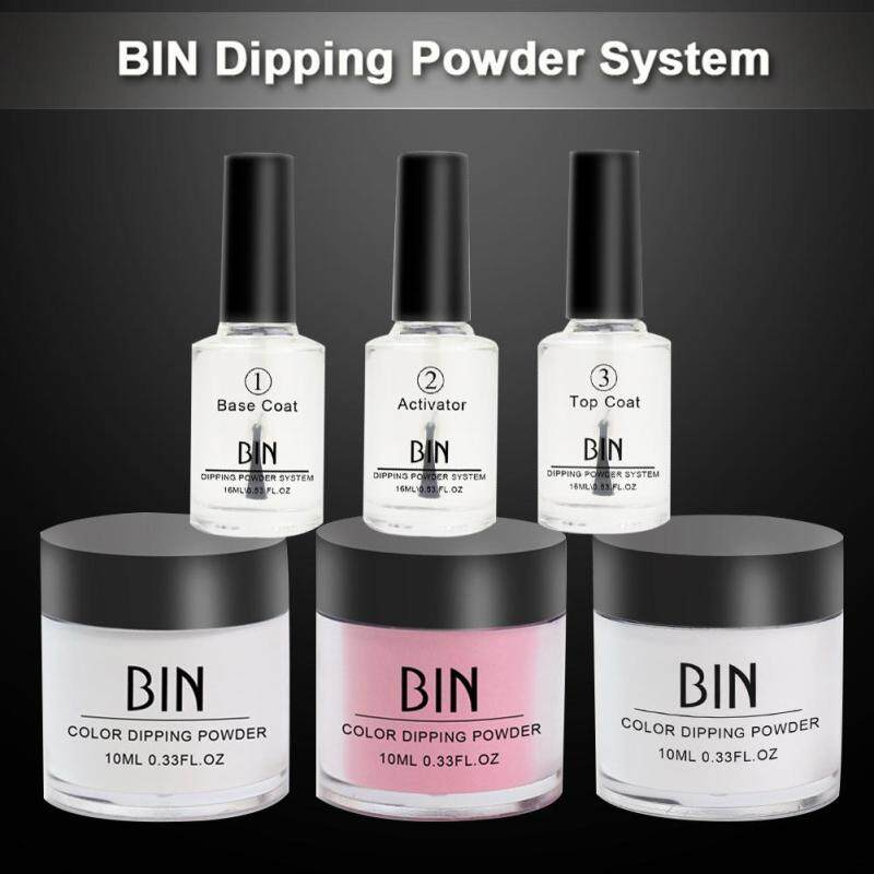 BLY Top CoatNail Polish Dipping  Powder Set Easy to Use Quick Drying Long Lasting Manicure Supplies