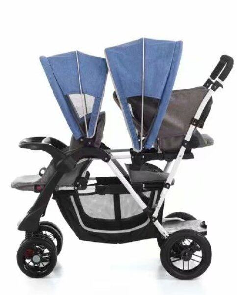 New Double Strollers for Twins Babies Folding Baby Pram Umbrella Car Front and Rear Lie Down Traveling Twin Stroller 0-6Y Singapore