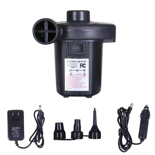 US Plug Car Inflatable Electric Air Pump with Nozzles for Mattress Electropump
