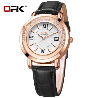 OPK Watch for Women Original Waterproof 39mm Large Dial Original 2021 Sale Luminous Luxury Elegant Leather Roman Watch thumbnail