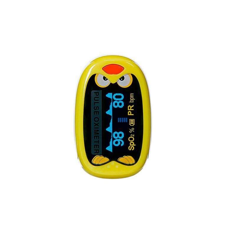 (yellow )children kids Finger Pulse Oximeter for Pediatric/Child oximetro Pulsoximeter Medical Infant De Dedo SpO2 Saturation Meter LLT Store