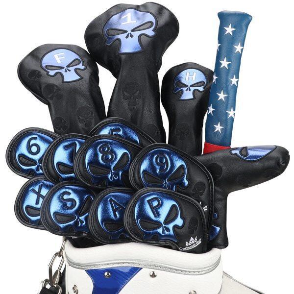 Bộ Quà Tặng Bọc Đầu Gậy Golf Bọc Gậy Gạt Sắt Đa Năng Driver Fairway Liên Kết Stick Bìa Da Với Số Tag