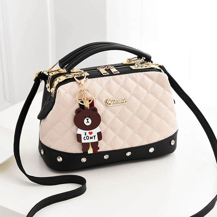 Women Fashion Elegant Handbag Shoulder Sling Bag CS152, Cream