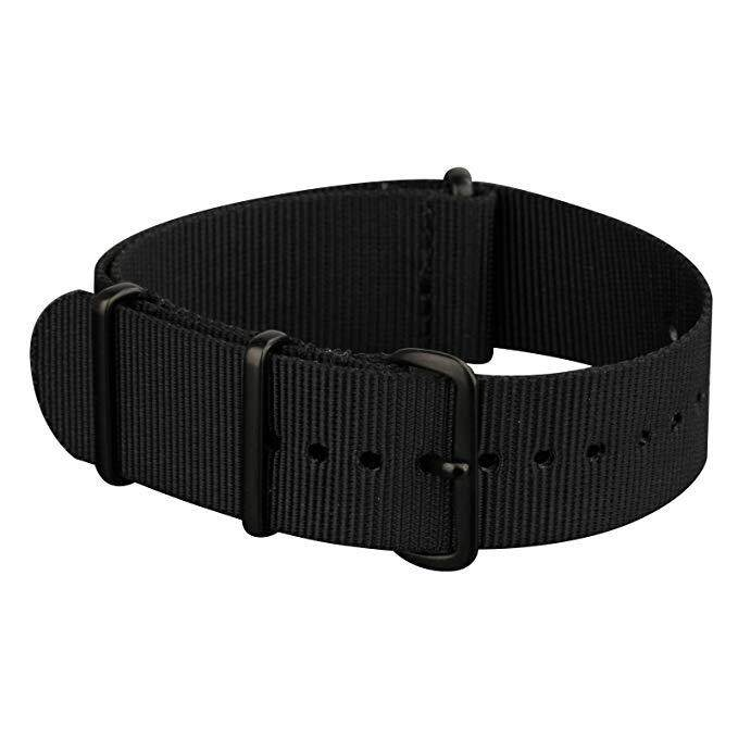 Watch Straps Seat Belt Nylon NATO Strap 18mm 20mm 22mm 24mm PVD Proess Black Buckle Heavy Duty Military Watch Band Ballistic Nylon Watch Band Strap Replacement for Men for Women Malaysia