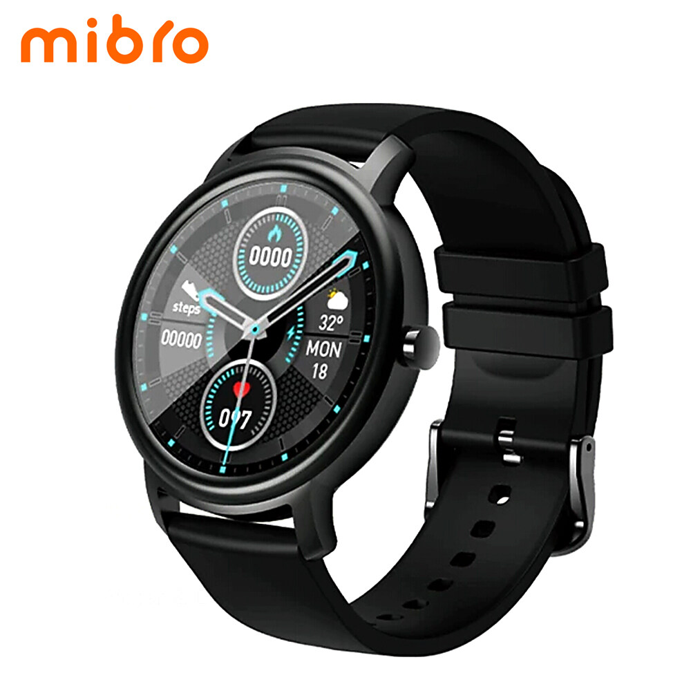Youpin Mibro Air Smart Watch XPAW001 Fitness Tracker Watch with 12 Sports Modes 24h Bio Heart Rate Tracker Sleep Analysis Long Lasting Battery IP68 Waterproof BT5.0 Smartwatch Sports Activity Tracker Smart Bracelet Fitness Tracker for Men Women Kids