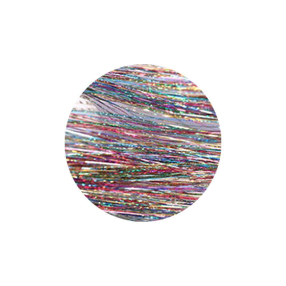 Women Straight Long Tinsel Highlights Braid Styling Glitter Holographic Party Hair Extensions Cosplay Crochet Miniature Wig