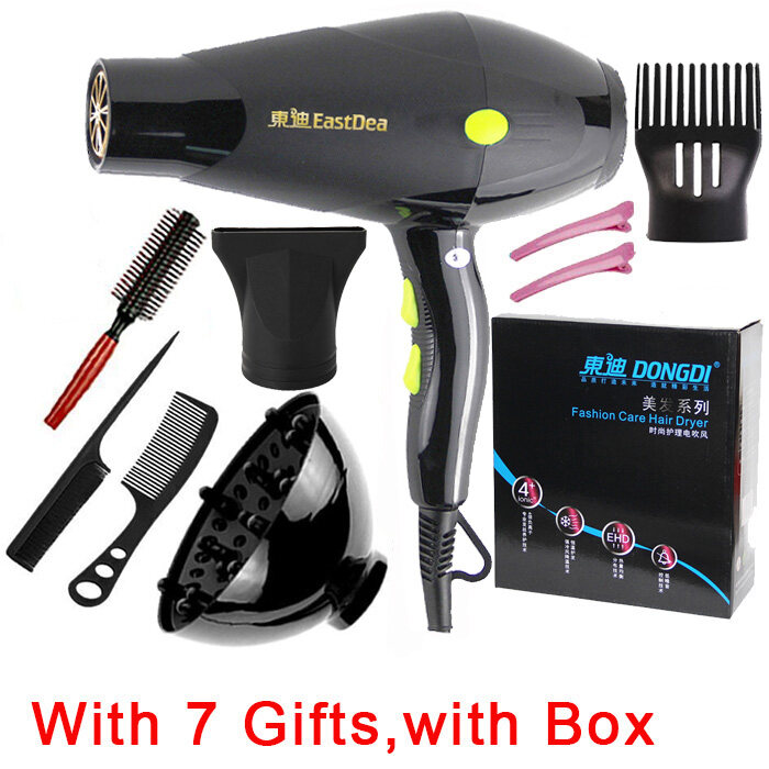 Professional Strong Power Dc Or Ac Motor Hair Dryer For Hairdressing Barber Salon Tools Blow Dryer Low Hairdryer Hair Dryer 110V