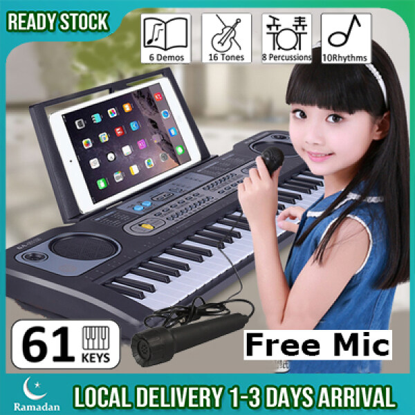 61 Keys Childrens Electronic Keyboard Organ Piano Set Self Learning Portable Electronic Music Piano With Microphone Set Malaysia