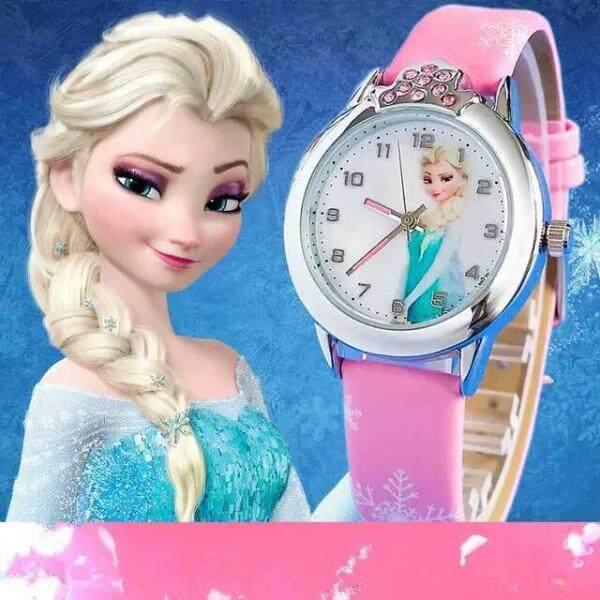 Prinses Elsa Kinderen Horloges Elektronische Kleurrijke Lichtbron Kind Horloge Meisjes Birthday Party Kids Gift Klok Childrens Pols Malaysia